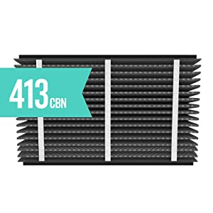 Aprilaire 413CBN Replacement Air Filter for Aprilaire Whole Home Air Purifiers, Healthy Home + Odor Reduction Filter, MERV 13, (Pack of 2)