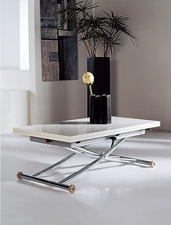 Multifunktionstisch Couchtisch Tisch Olimp weiß höhenverstellbar ...
