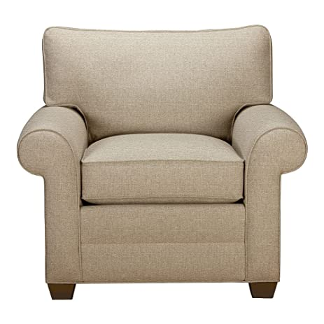 Perfect Ethan Allen Bennett Roll Arm Chair, Quick Ship, Palmer Oyster