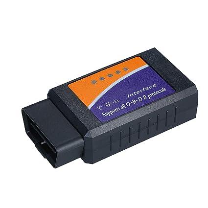 Wireless OBD2 LETTORE CODICE SCANNER Bluetooth Wi-Fi Auto Strumento Diagnostico Controllo Luce