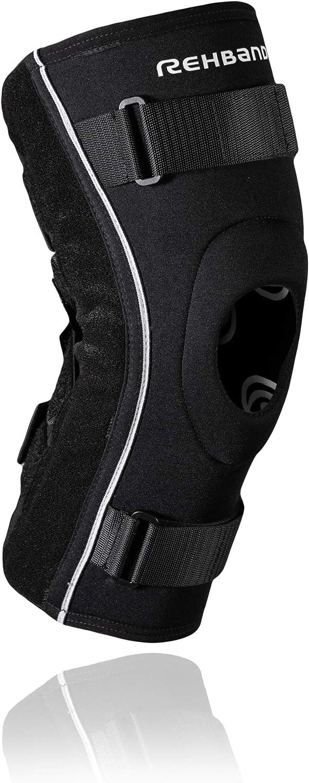 Rehband UD Hyper-X Knee Brace Ortesis de Rodilla, Unisex Adulto, Negro, Extra-Large