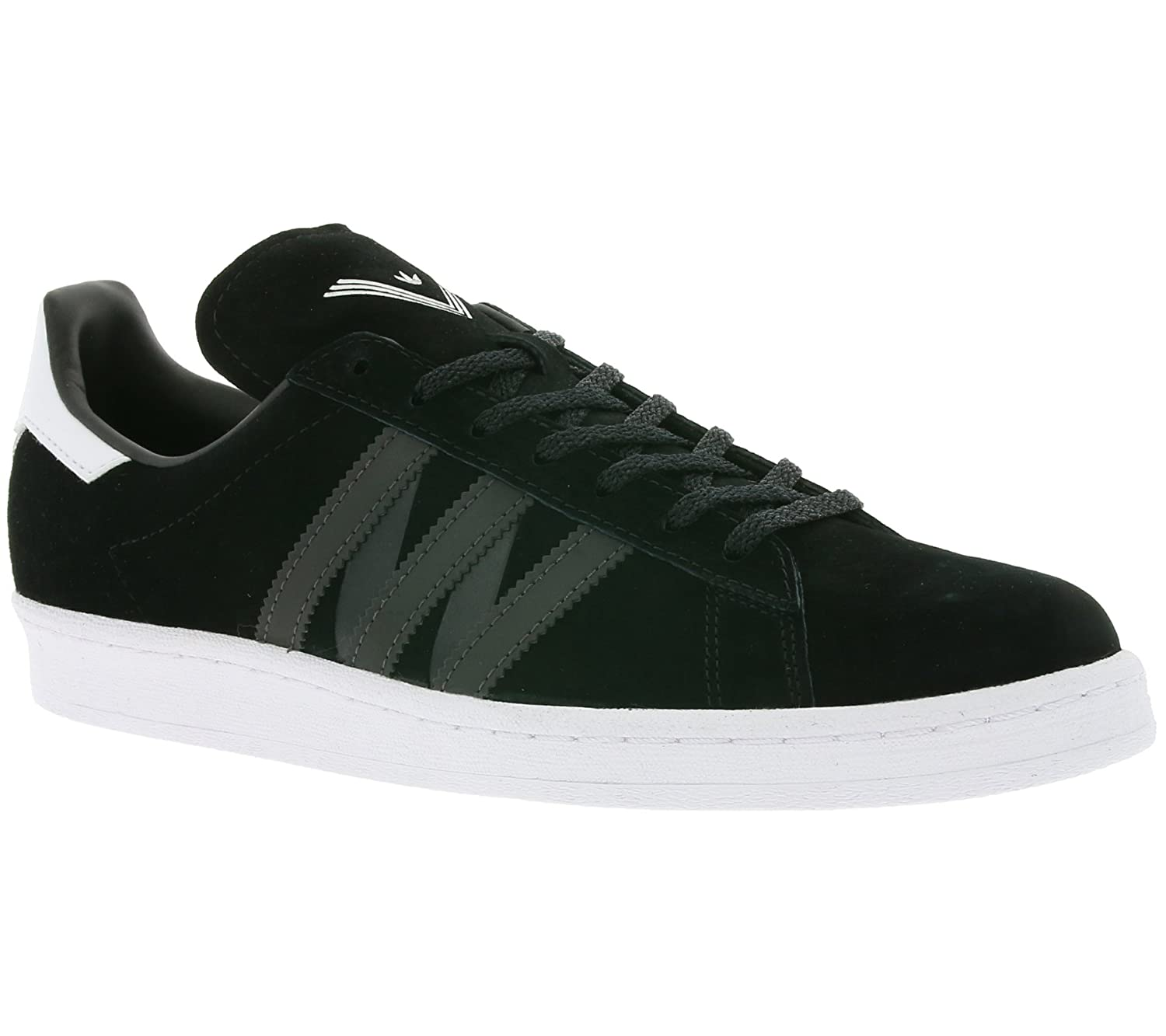 bd90a0d8ecd2 adidas White Mountaineering Campus 80s Real leather sneaker black BA7516   Amazon.co.uk  Shoes   Bags