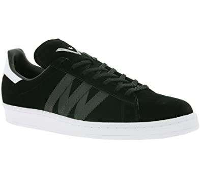 adidas White Mountaineering Campus 80s Schuhe Echtleder-Sneaker Turnschuhe Schwarz BA7516