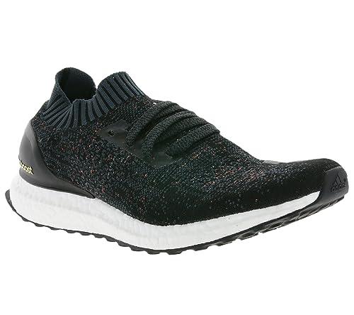 Adidas, Scarpe da Corsa Uomo, Nero (Black/Dark Grey/Easy Green