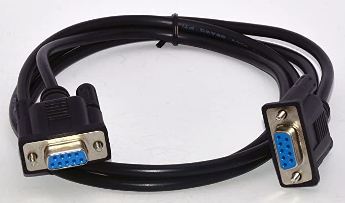 5 Feet DTECH DB9 RS232 Straight Through Cable Serial Port Extension Female to Female Used for DTE Connection DCE Device