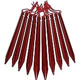 Vidalido(ヴィダリド) テント ペグ 長い23cm Y型 軽量ジュラルミン製 紐付き 10本 / 20本 収納袋付き