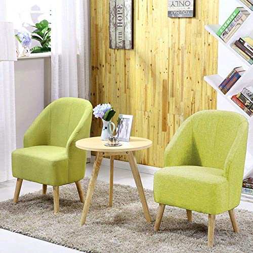 Magshion Elegant Upholstered Fabric Club Chair Accent Chair W Free Pillow Living Room Green