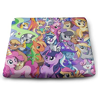 My Little Rainbow Pony Square Cushion Thick Large Soft Mat Floor Pillow Seating for Home Decor Garden Party for Chair Pads 15x13.7x1.2Inch: Office Products