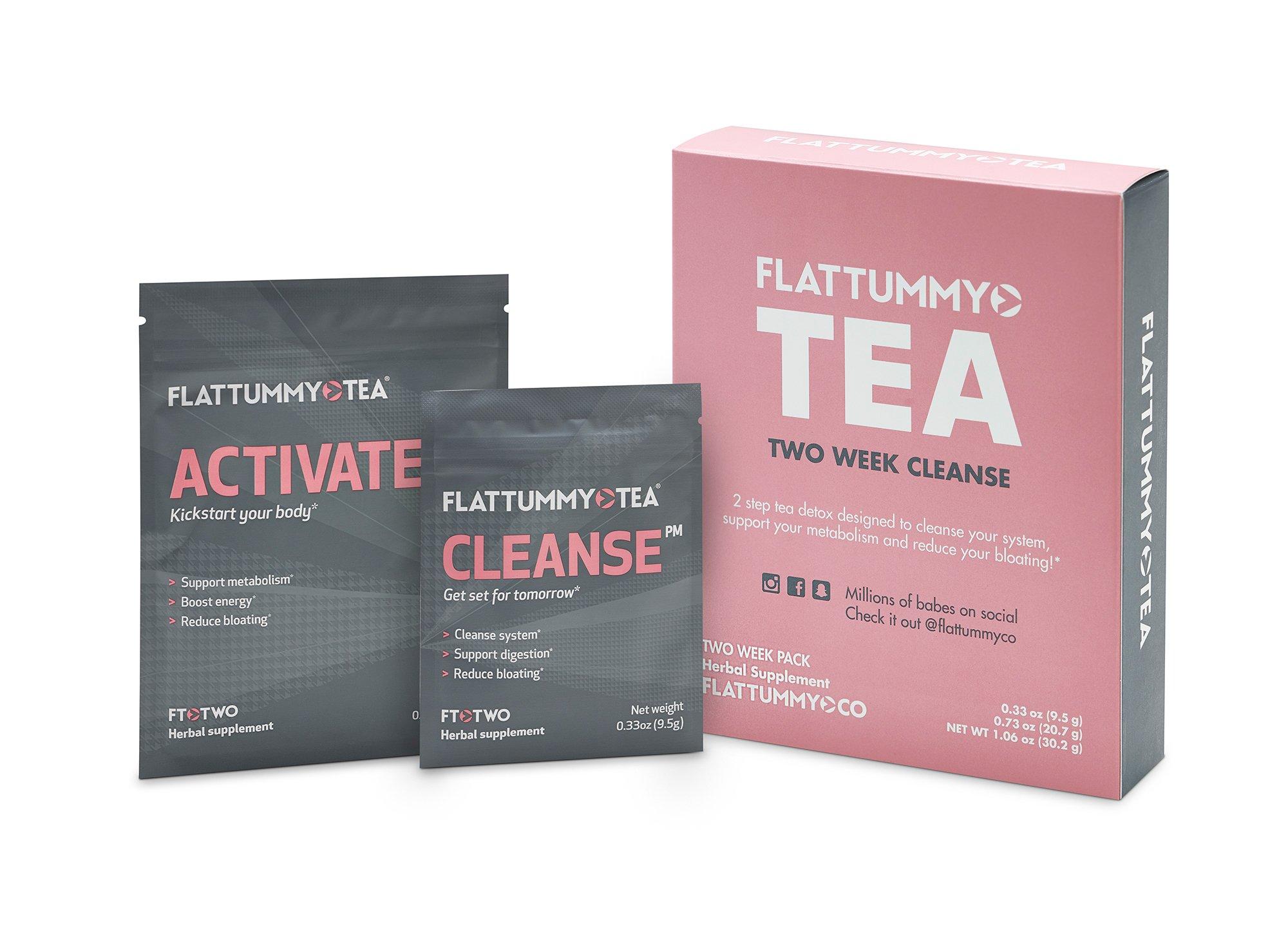 Flat Tummy Tea 2-Week Detox Herbal Tea To Help Kick That Bloated and Sluggish Feeling
