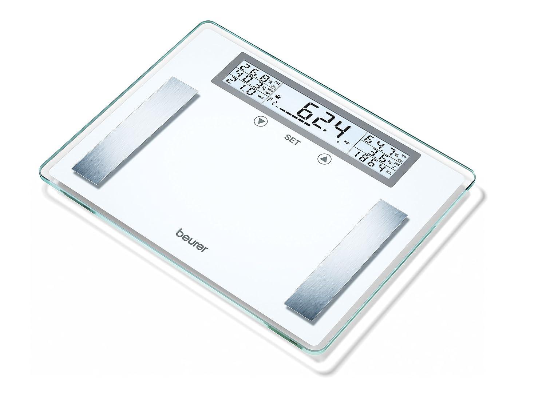 Beurer BG 51 XXL - Báscula de baño diagnóstica, gran plataforma 39 x 30 cm, memoria para 10 usuarios, color blanco: Amazon.es: Salud y cuidado personal