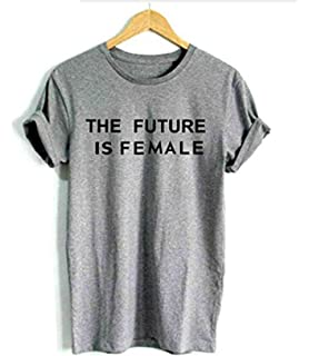 c81d91221 Expression Tees Crew The Future is Female Adult Large Royal Blue ...