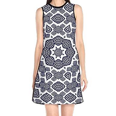 c9caf16b6e10 Hakalala Girl Dresses Sexy Dress, Geometric Figure Spring Dress, Vintage  Dress for Women Girls at Amazon Women's Clothing store: