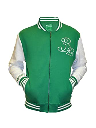 Mens Ireland Baseball jacket Green & White at Amazon Men's ...