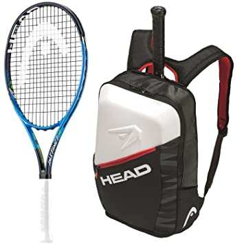 Head Graphene Touch Instinct - Pala de tenis para niños, color negro y azul, 26 Inch Racquet, Djokovic Backpack (Black/Red/White): Amazon.es: Deportes y ...