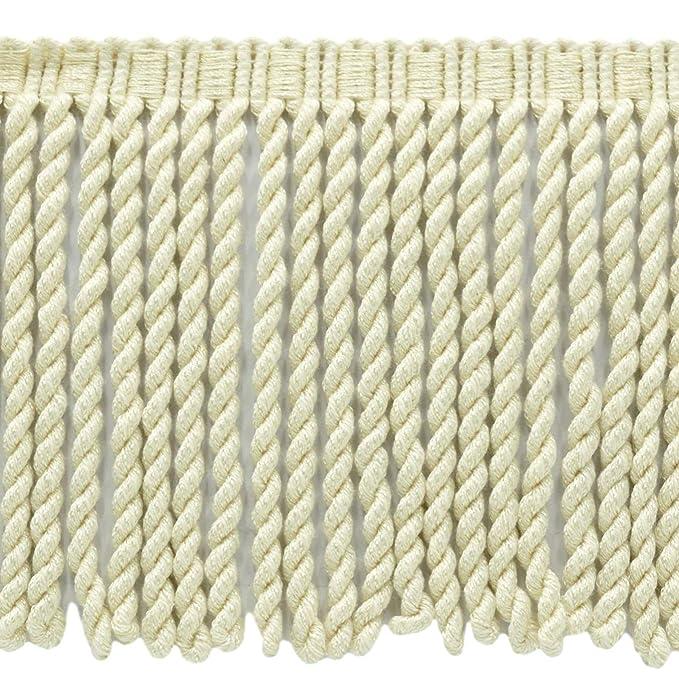 15 Ft // 4.5 Meters BFS9 Color: A2 Basic Trim Collection 9 Inch Long Ivory//Ecru Bullion Fringe Trim D/ÉCOPRO 5 Yard Value Pack