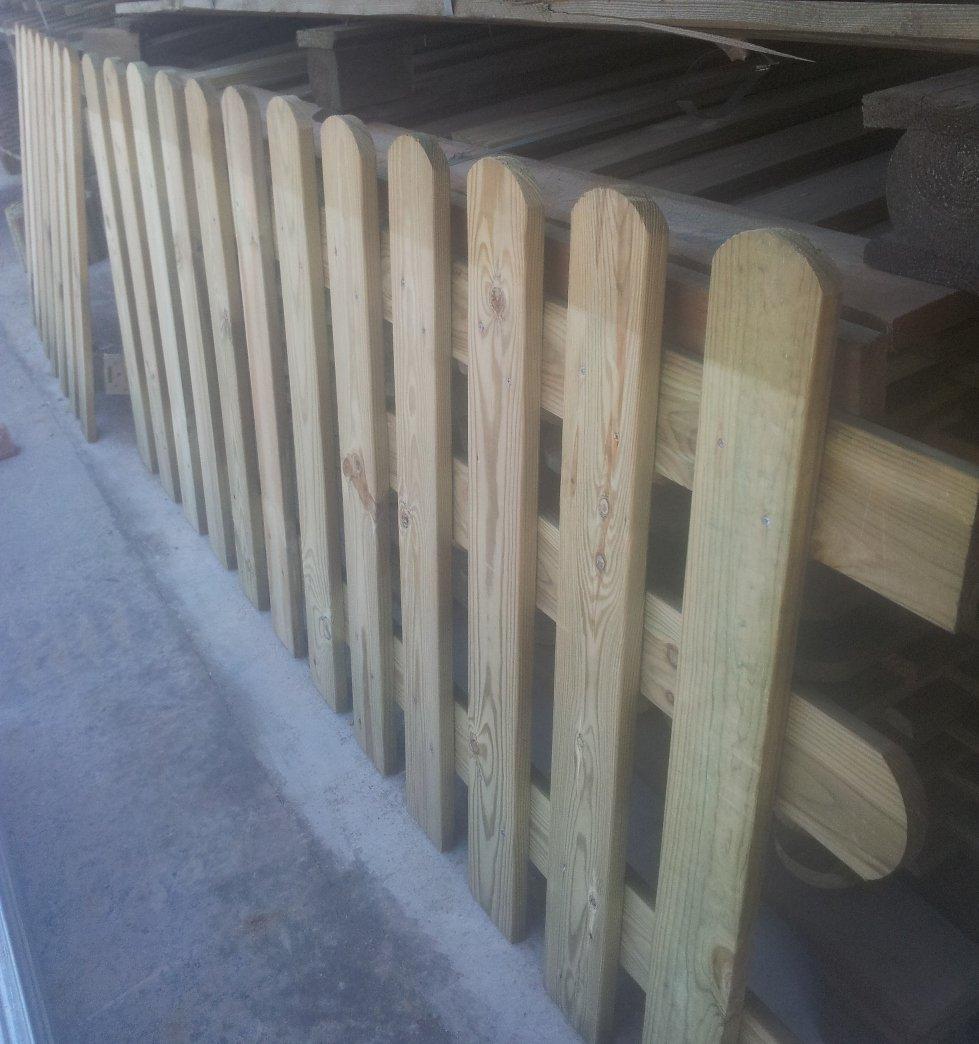 Holzzaun in Kiefer L 200 x H 80 Zaun Latten für Zaun Garten Beet