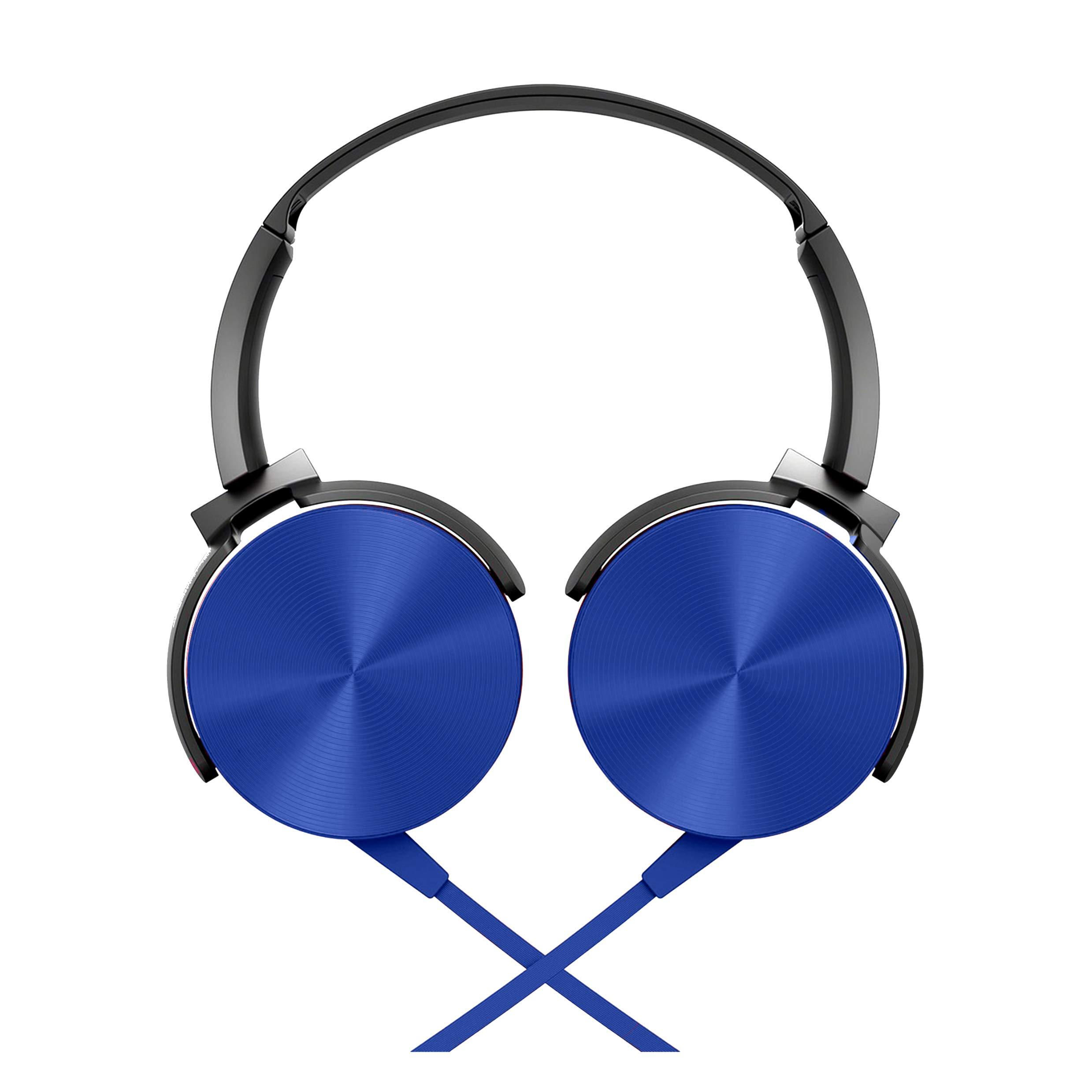 Foxin FHM-302 Wired On-Ear Stereo Headphones with Built-in Mic & Controls (Blue) (B07SHDTGZY) Amazon Price History, Amazon Price Tracker