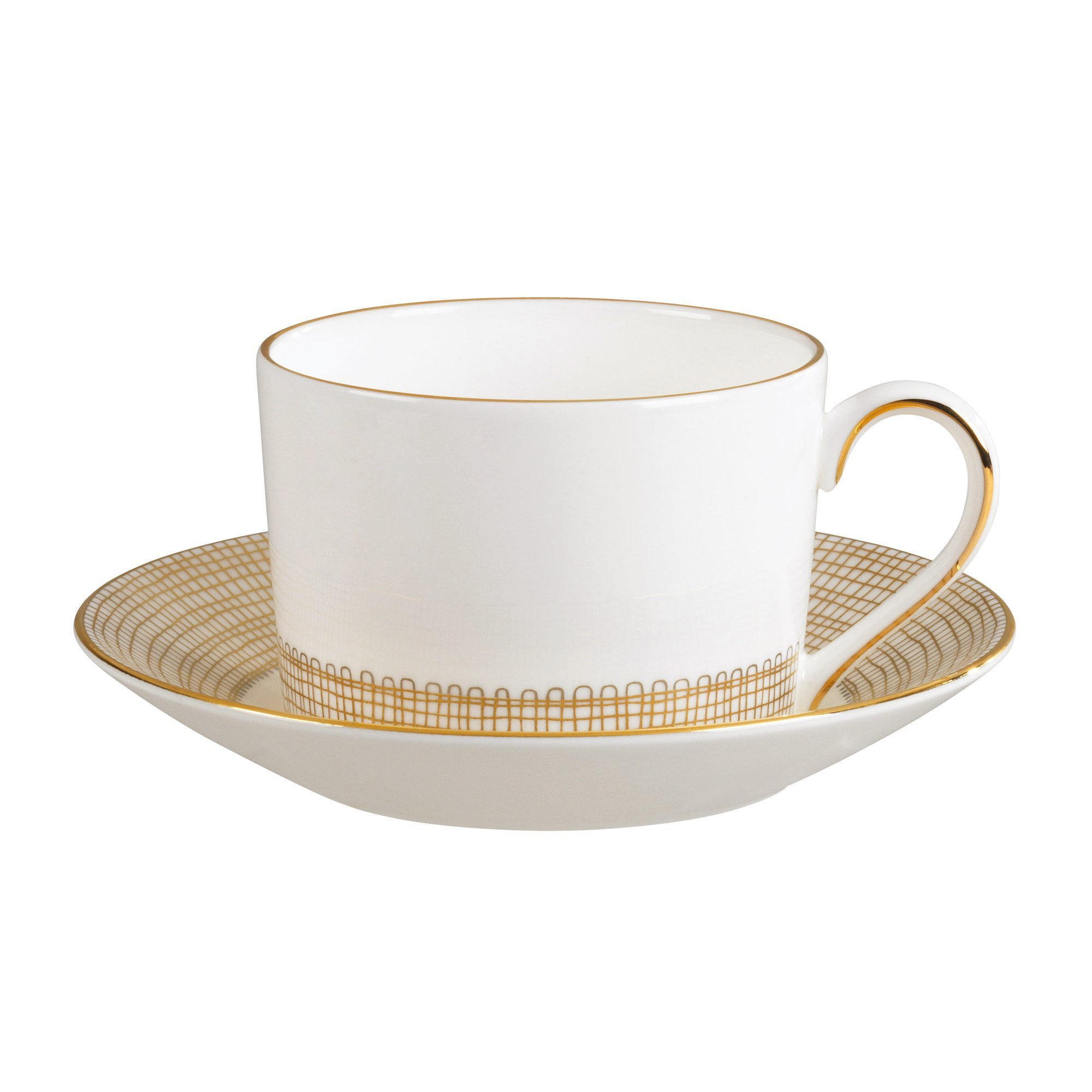 Wedgwood Gilded Weave Rim Soup Plate, 9'', White