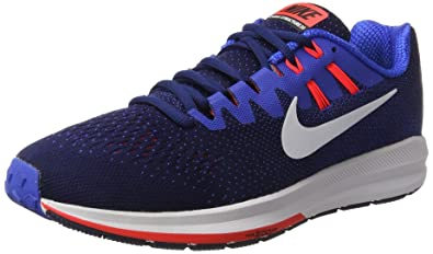 a6aa2e6c92b8 Image Unavailable. Image not available for. Color  NIKE Men s Air Zoom  Structure 20 Binary Blue White Hyper Cobalt Running Shoe 9.5