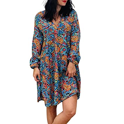 Vestidos Largos Mujer,Wave166 Casual Vestido De Verano Largo Maxi ...