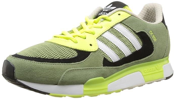 d224e94a68d39 adidas Originals Mens ZX 850-7 Trainers D65237 ST Tent Green Running White  FTW Electricity 12 UK