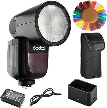 GODOX V1-P Round Head Flash Speedlight for Pentax 76Ws 2.4G TTL 1//8000 HSS 1.5 sec Recycle Time 480 Full Power 2600mah Li-ion Battery