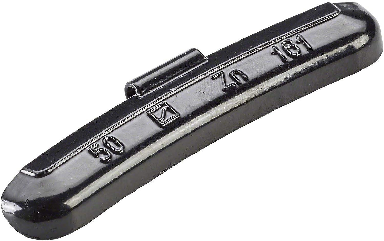 50x Wuchtgewichte Schwarz Typ161 50g Schlaggewichte Stahlfelgen Auswuchtgewicht Auto
