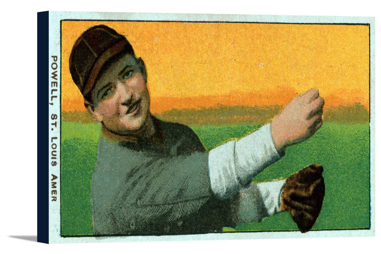 セントルイスBrowns – ジャックPowell – 野球カード 36 x 19 3/8 Gallery Canvas LANT-3P-SC-23121-24x36 B0184AQQIW  36 x 19 3/8 Gallery Canvas