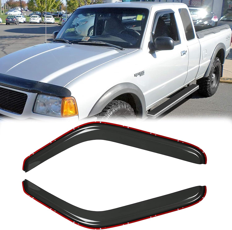1994-2010 Mazda B2300 /& B4000 1994-2008 Mazda B3000 with Standard Cab Auto Ventshade 92083 Original Ventvisor Side Window Deflector Dark Smoke 2-Piece Set for 1993-2011 Ford Ranger