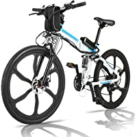 fiugsed Elektryczny rower górski, 26 cali, E-Bike 36 V, 250 W, składany, elektryczny rower górski z 21-biegową…