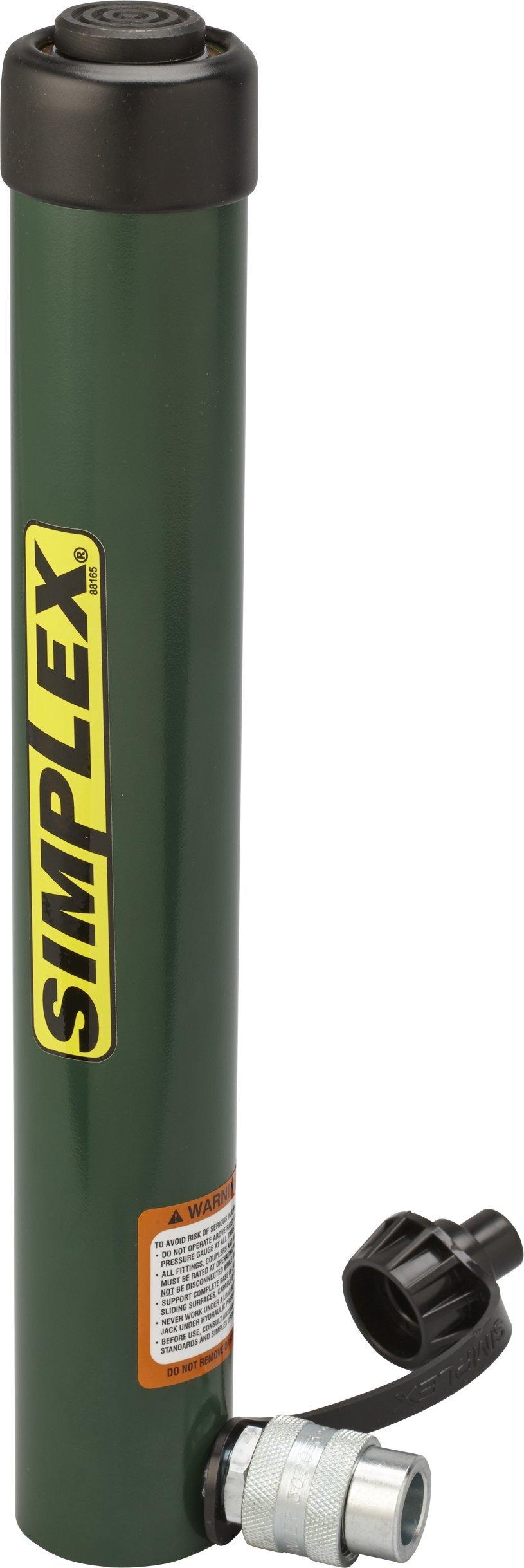 Simplex R1010 Steel Spring Return Cylinder, 8929 PSI, 2.24'' Bore, 10'' Stroke