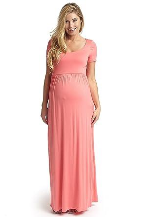 Solid Maxi Dresses Maternity