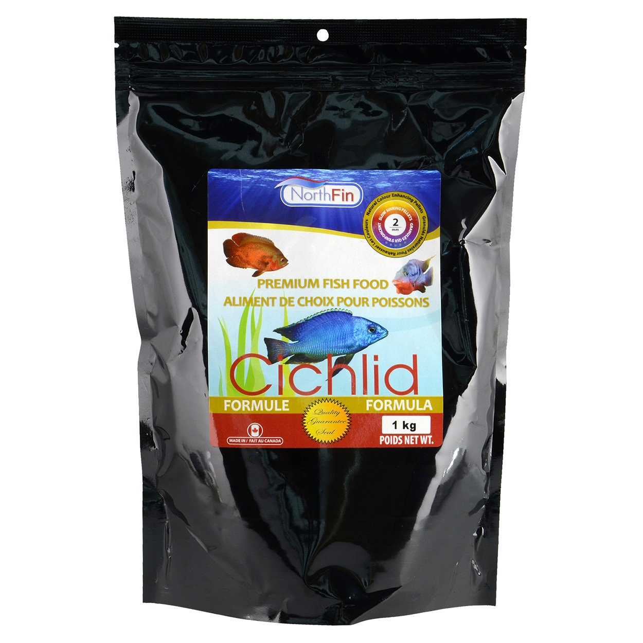 Northfin Food Cichlid Formula 2Mm Pellet 1Kg Package by Northfin