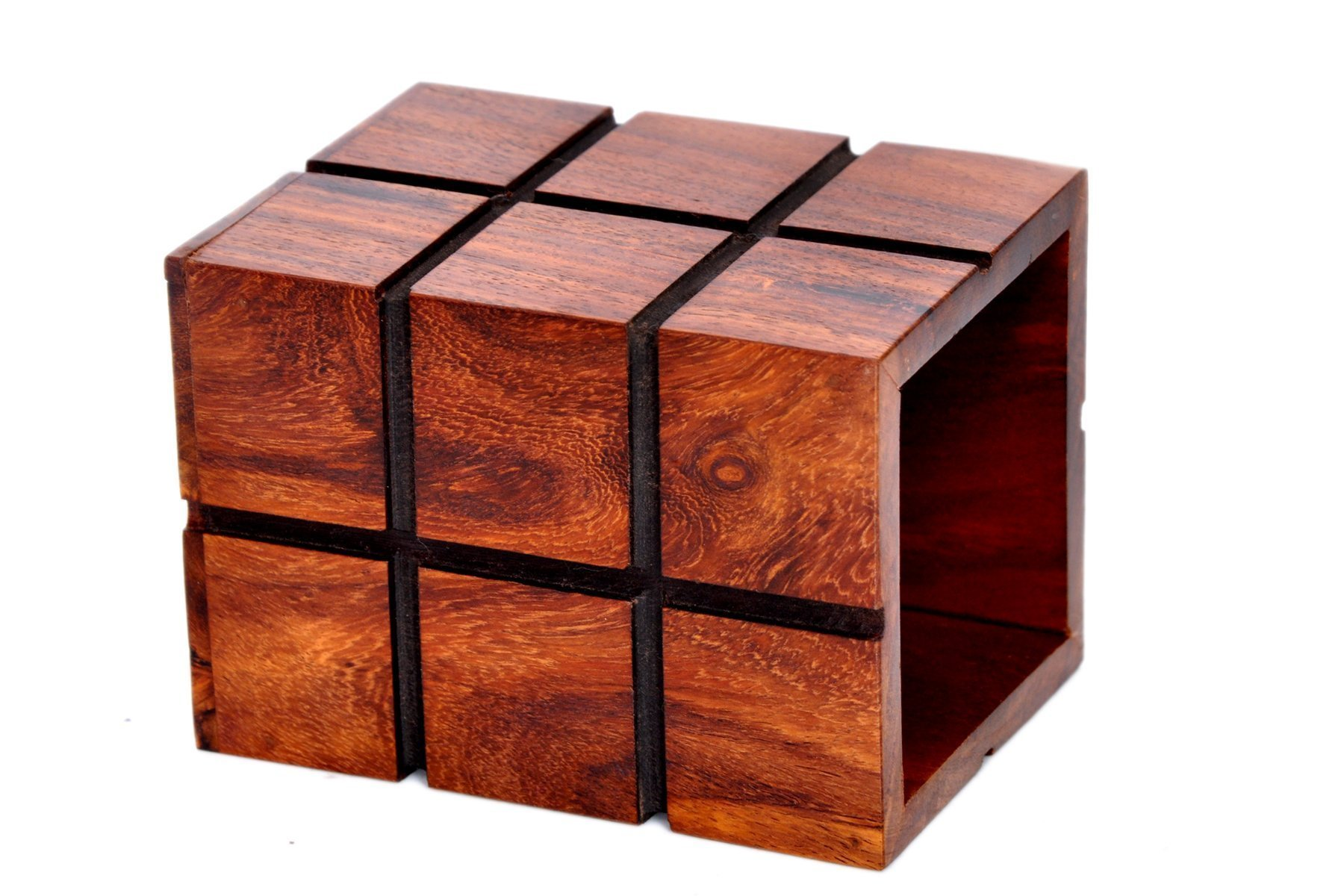 Hashcart Indian Rosewood Decorative Design Wooden Pen, Pencil Holder Handmade Traditional Storage Organiser for Desk, Office, Home Gift for Birthday by Hashcart (Image #2)