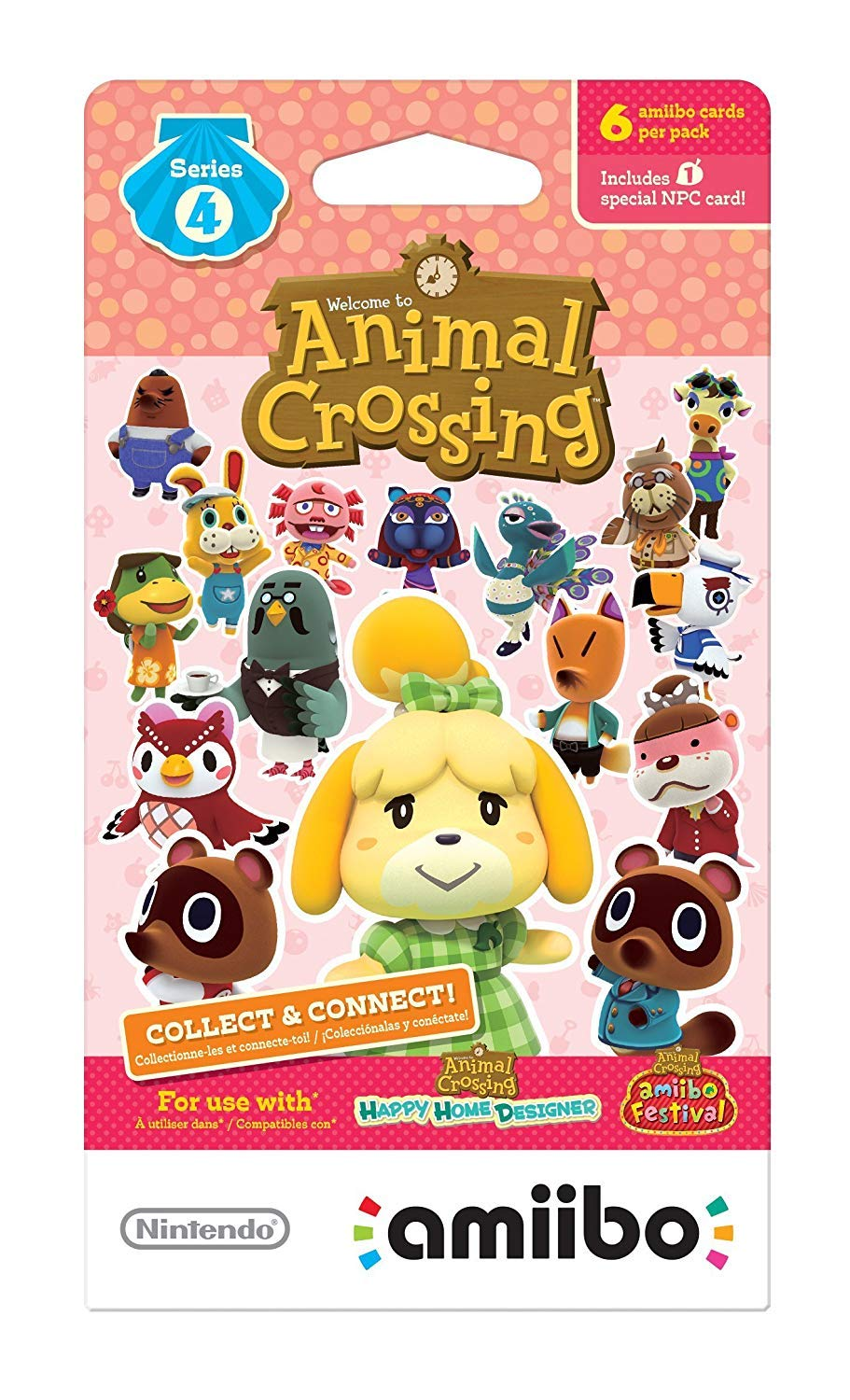 Nintendo Animal Crossing amiibo Cards Series 1, 2, 3, 4 for Nintendo Wii U and 3DS, 1-Pack (6 Cards/Pack) (Bundle) Includes 24 Cards Total by Nintendo (Image #5)