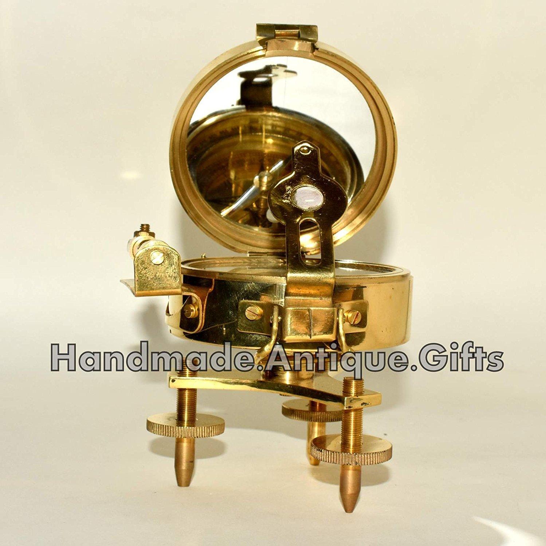 アンティーク真鍮Brunton Compass withスタンドレベルVitage Nautical Compassギフト B075JMY2Q2