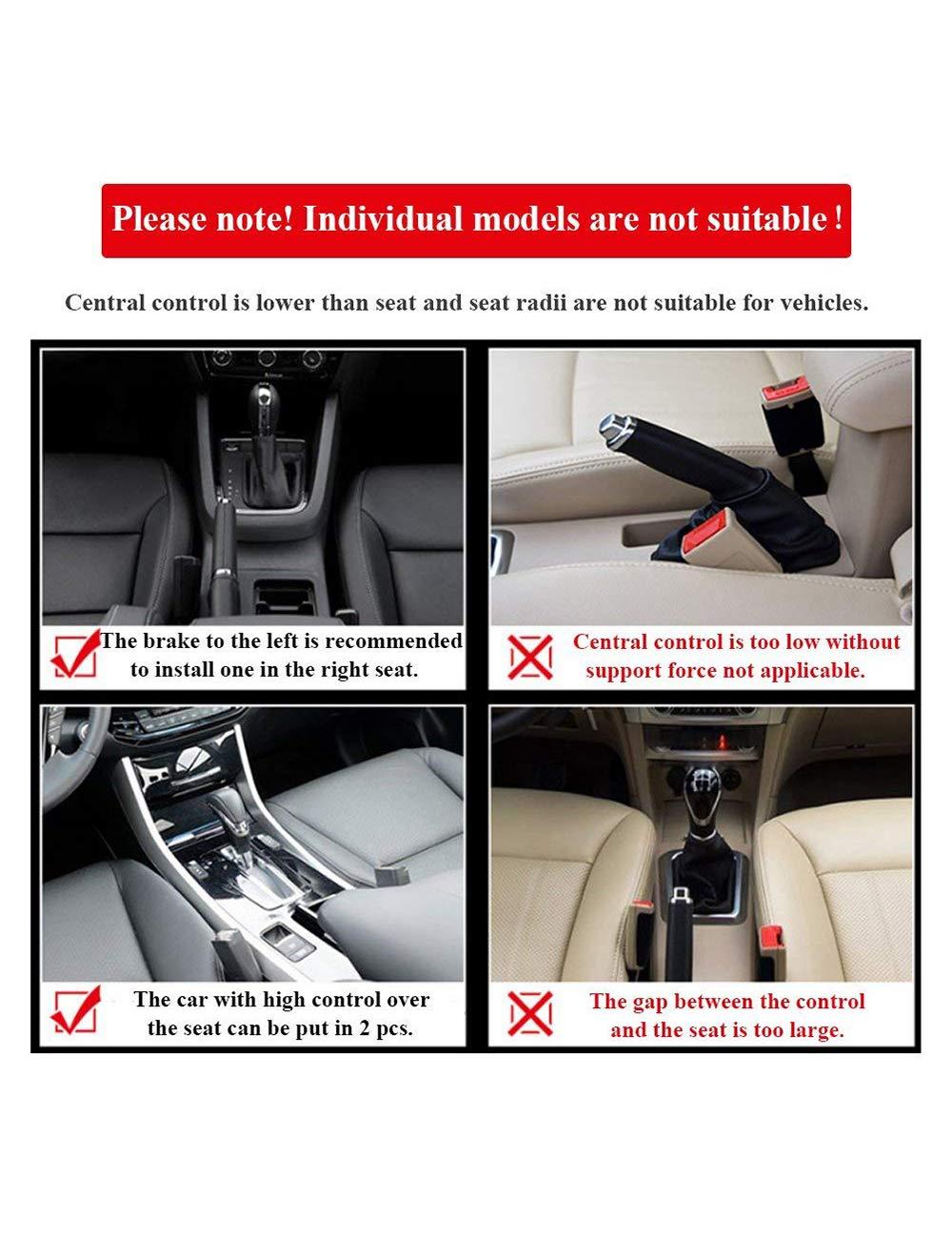 Autositztasche Autositz Side Gap Filler Auto Catcher Seitentasche Organizer Seat Crevice Slit Pockets f/ür auto mit M/ünz Organizer und Getr/änkehalter Premium-PU-Leder SPDYCESS