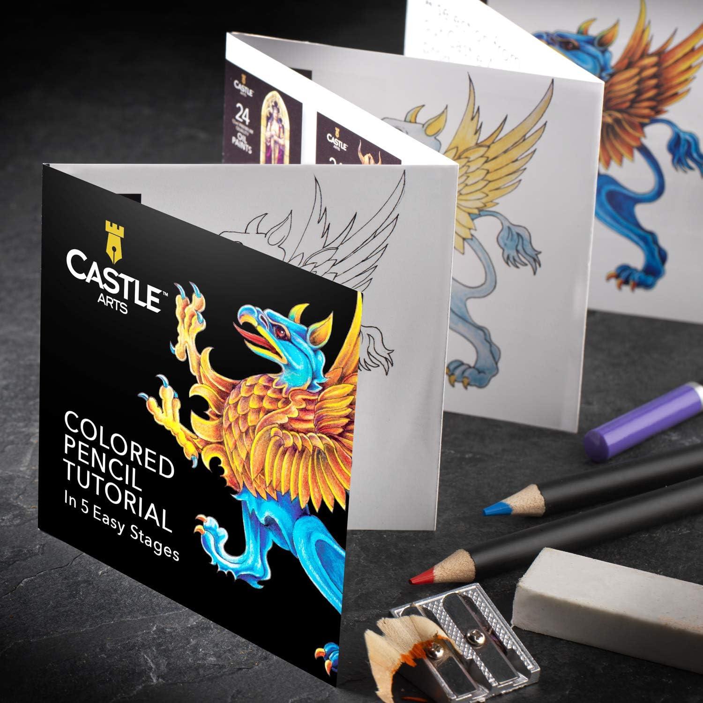 Castle Art Supplies 72 lápices de colores en estuche con cremallera para proteger y almacenar los lápices: Amazon.es: Oficina y papelería