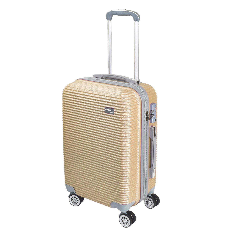 【神戸リベラル】 BAGING 軽量 拡張ファスナー付き S,M,Lサイズ スーツケース キャリーバッグ 8輪キャスター TSAロック付き B077ZS7R5Q Lサイズ(長期用 85/95L)|ゴールド ゴールド Lサイズ(長期用 85/95L)