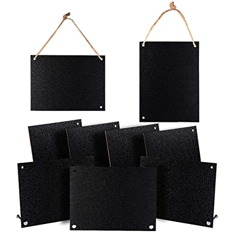 Amazon.com: Letreros de pizarra con soportes de base de ...