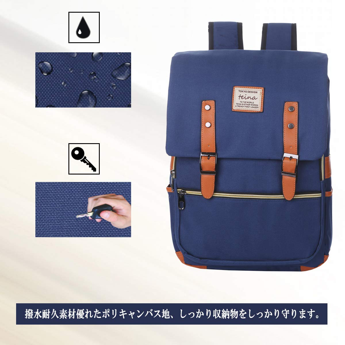 Amazon.com   Teina 2017 Spring Japan Design BackPack (Black)   Casual  Daypacks 3009c439a7