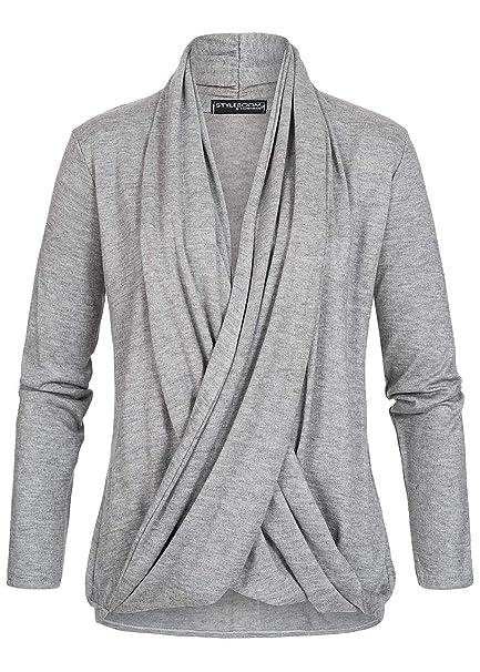 Styleboom Fashion® Damen Pullover Wrapped Cardigan Jacke