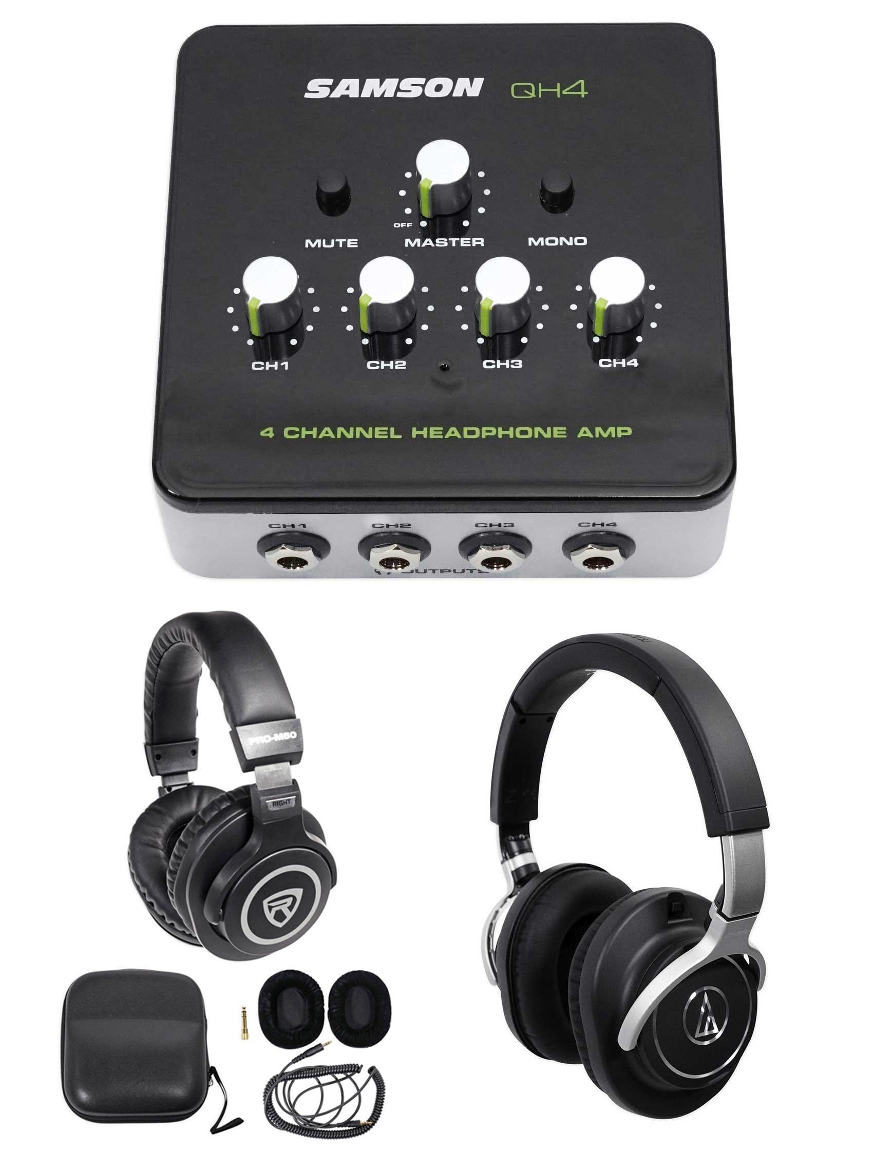 Audio Technica ATH-M70x Pro Monitor Headphones ATHM70x+Amplifier+Free Headphones