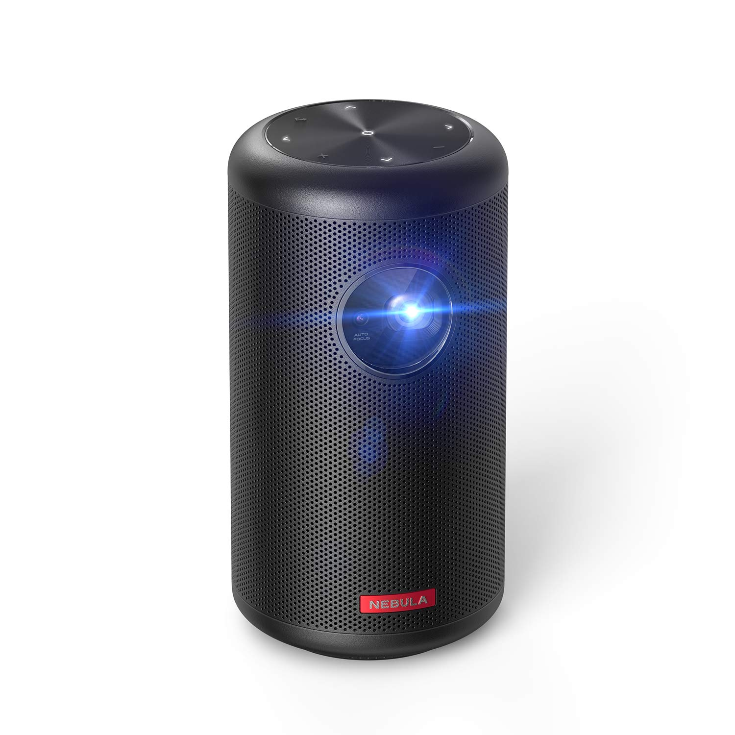 Nebula Capsule II Smart Mini Projector, by Anker, Palm-Sized Portable 200 ANSI lm 720p HD Pocket Cinema with Wi-Fi, DLP, 8W Speaker, 100'' Picture, 3, 600+ Apps, and 2.5-Hour Video Playtime