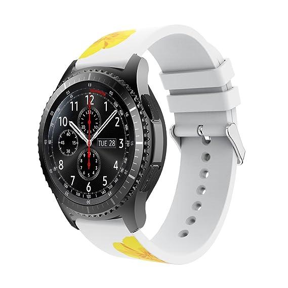 Amazon.com: Samsung Gear S3 Band Reakle Silicone Smart Watch ...
