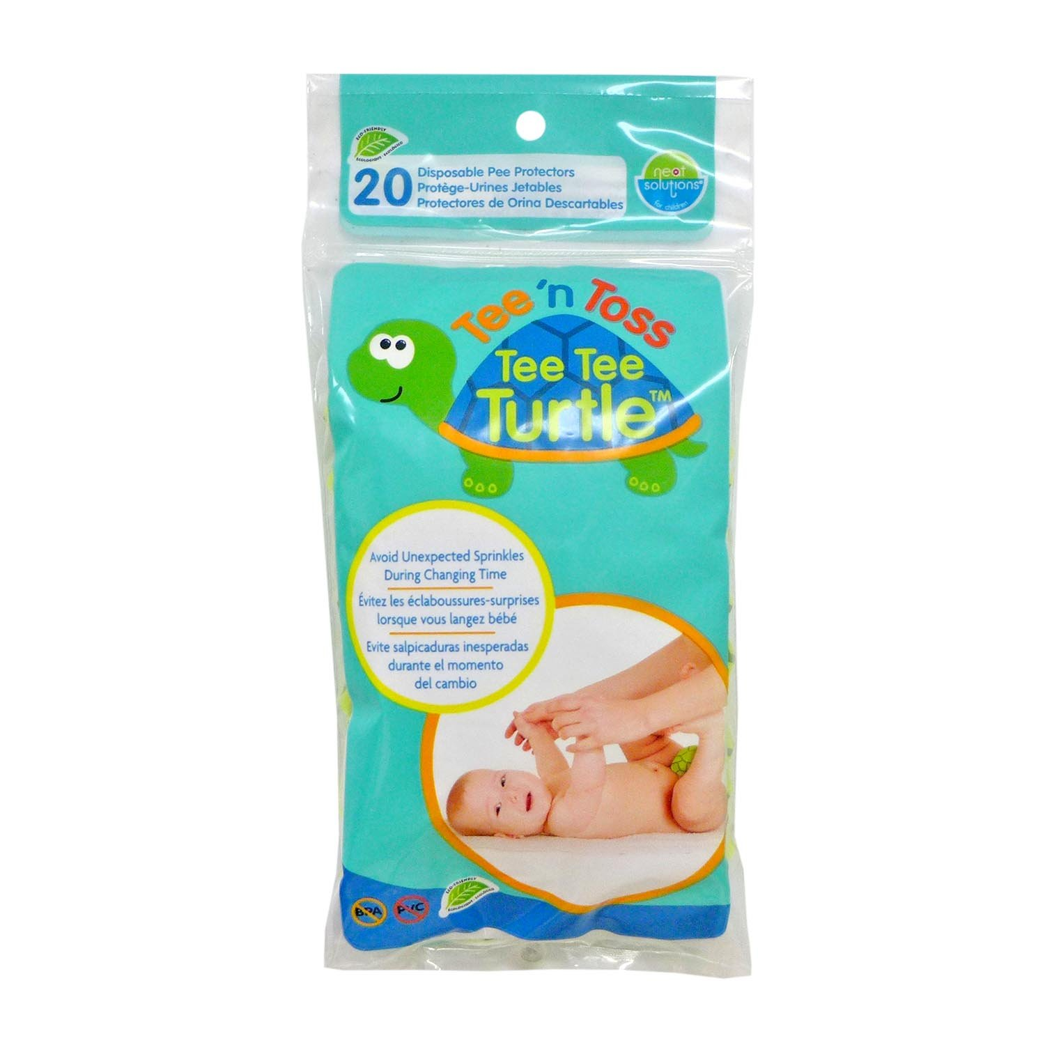 Amazon.com : Neat Solutions Tee N Toss Tee Tee Turtle, 20 Count : Baby