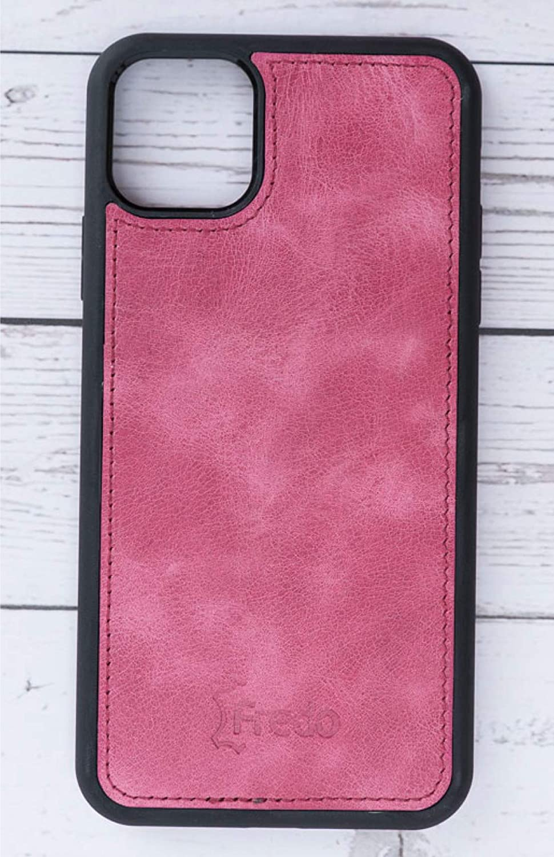 FREDO iPhone 11 Pro Max 6.5 Housse-en Cuir v/éritable-Housse de Rangement-Etui-Case Etui Rigide-Housse de Protection-Etui en Cuir-Cas de t/él/éphone Portable,D/étachable Housse//Noir Handmade in Europe