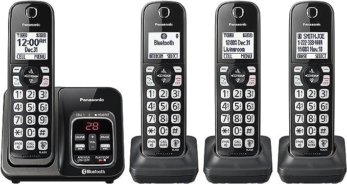 Panasonic kx-tgd564 m link2cell Bluetooth teléfono inalámbrico con Asistencia de Voz y contestador automático – 4 terminales (Certificado Reformado): Amazon.es: Electrónica