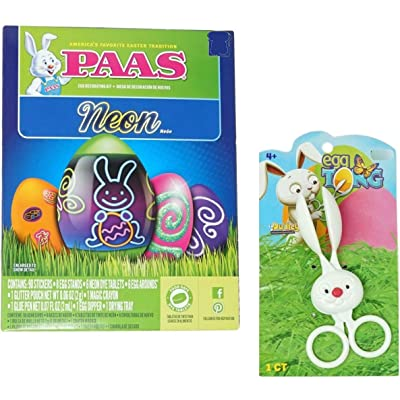 Easter Egg Dye Bundle - Neon Dye Kit with Bunny Egg Dipper Tong: Toys & Games