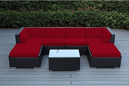 Ohana 7-Piece Patio Wicker Sectional Sofa Set